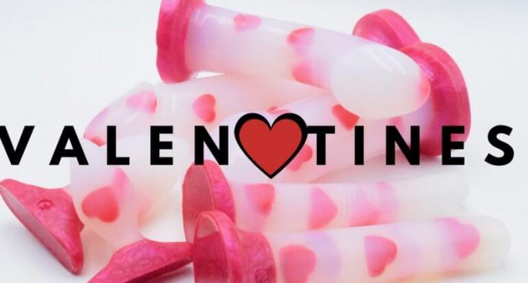Godemiche Silicone Dildo Be My Valentines Love Hearts