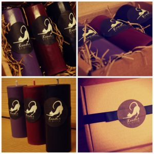 Gothic candle colour set from Kandles by Kitten