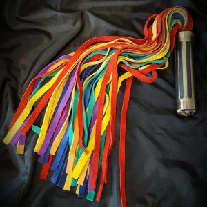 Rainbow flogger from Daisy Floggers