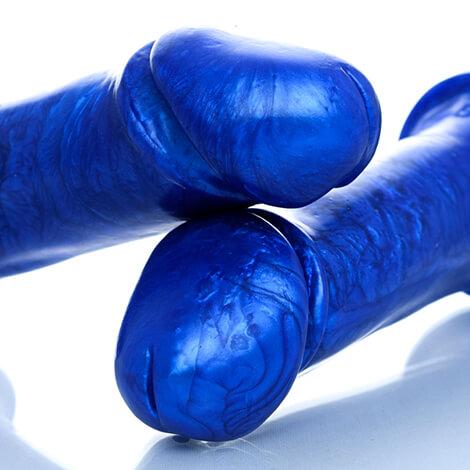 Godemiche Silicone Dildo Adam Pearlescent Godemiche Adam Blue Pearl