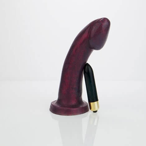 Godemiche Silicone Dildo Ambit Blood Red Effulgence Vibrating