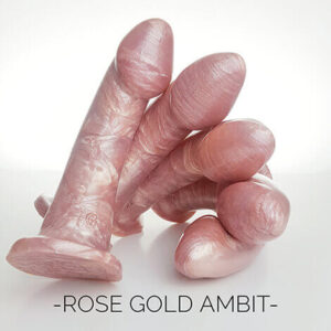 Godemiche Silicone Dildo Ambit Rose Gold group