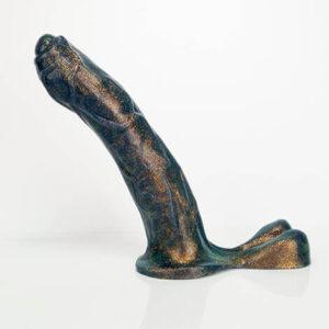 Godemiche Silicone Dildo Hercules Effulgence Hercules Black Bronze Effulgence Large (1)