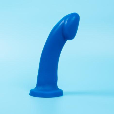 Medium Ambit in Blue UV silicone dildo