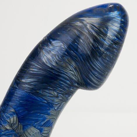Godemiche Silicone Dildo Ambit Blue Pearl & Boltgun Black