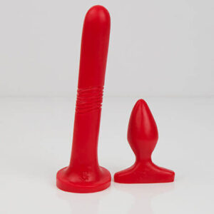 Godemiche Silicone Dildo Anal Duo Pack Red Standard Colour
