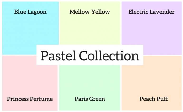 Godemiche Silicone Dildo Pastel Colour Swatch