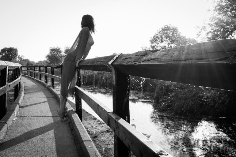 Monika on a bridge with a see through top Kiss of Life - Sinful Sunday