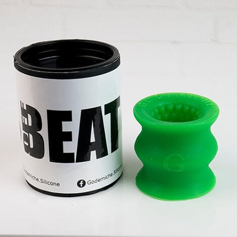 Godemiche SIlicone OffBeat Short Packaging Green UV