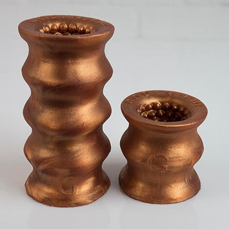 Godemiche Silicone OffBeat Two Sizes Bronze
