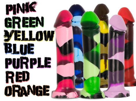 Godemiche SIlicone Dildo MK and Colourflage Collections
