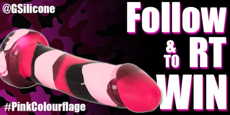 Godemiche Silicone Dildo Pink Colourlfage Prize One Twitter giveaway follow and RT to win