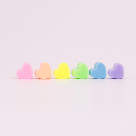 Pastel Be My Valentines Heart Line