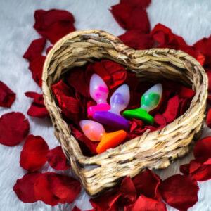 Godemiche Silicone Dildo Plug B Love Hearts Unique