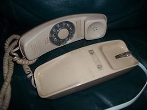 Rotary Dial Slimline phone for a lifetime of wanking