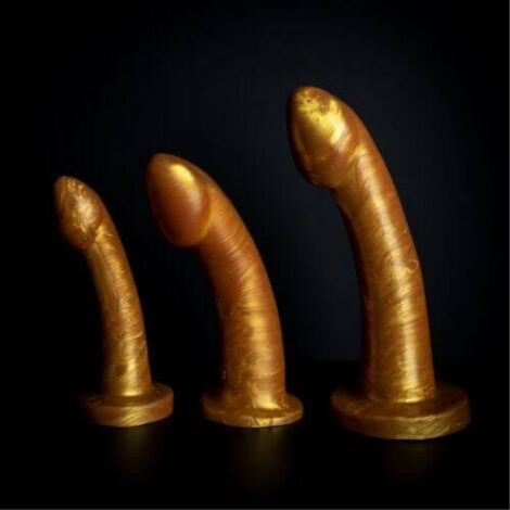 Ambit small medium large gold silicone dildo by Godemiche