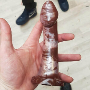 Godemiche Silicone Dildo Ambit Coffee and Rose Gold