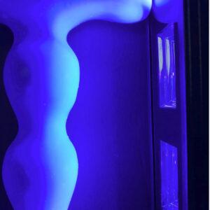 Godemiche Silicone Butt Plug Apex Large Blue UV