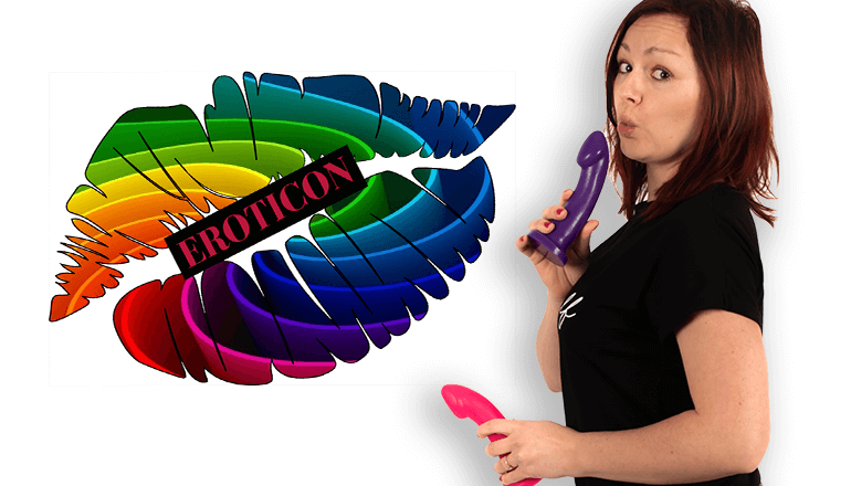 Godemiche silicone dildo Eroticon 2019 Meet and Greet Banner