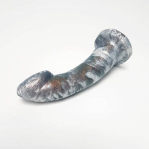 Godemiche Silicone Ambit dildo in Pearl and autumn forest glitter