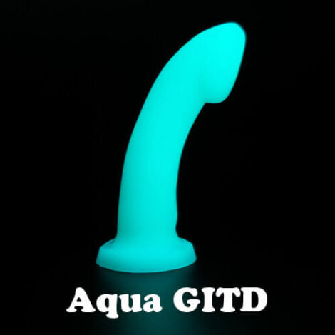 Godemiche silicone dildos Aqua GITD Ambit 500x500 With Text