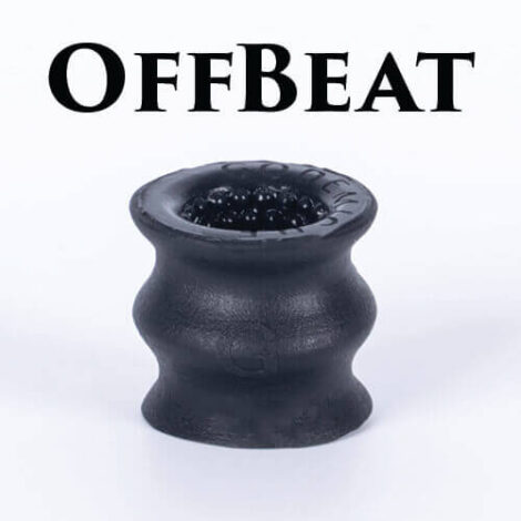 Godemiche silicone penis masturbater OfBeat Black Oral Set