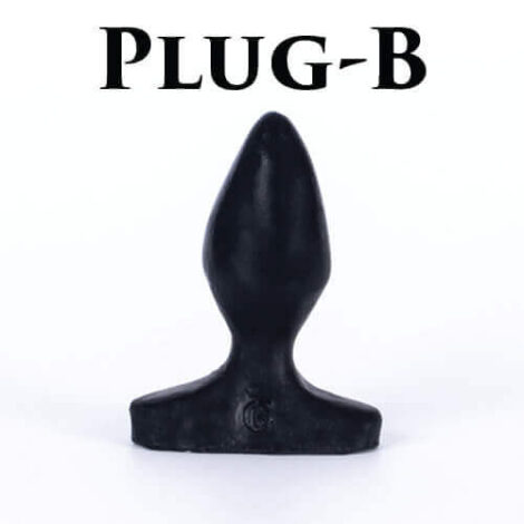 Godemiche silicone anal butt plug Plug B Small Black Anal Set