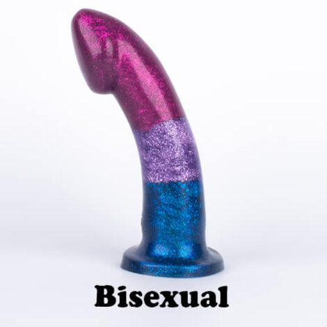 Godemiche silicone dildos Proud to support pride Bisexual Glitter Ambit Stood Up