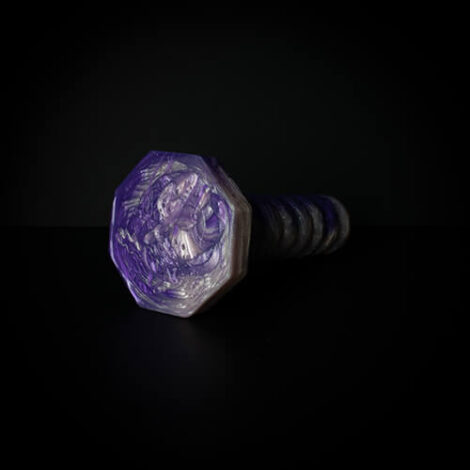 Absolem medium Purple pearl and Roase Gold octogan base