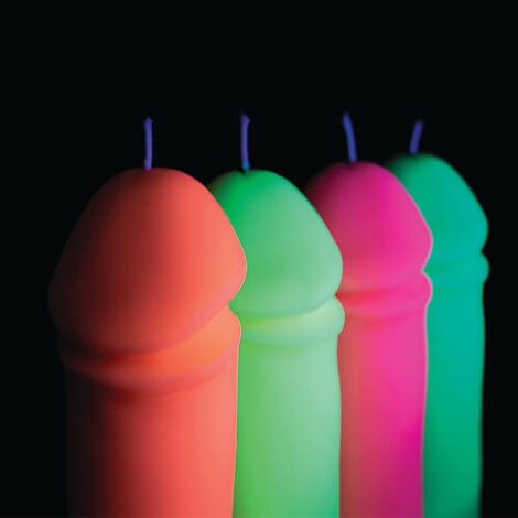 Fluorescent Penis Candles hot wax play godemiche