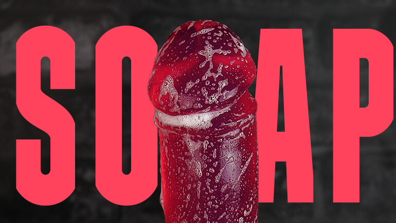 Cock Soap Blog Post Banner Godemiche Dildo Soaps