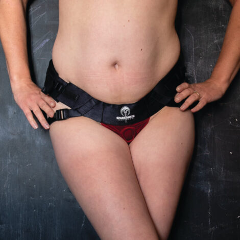 Spareparts Joque Red Strap on Harness Front