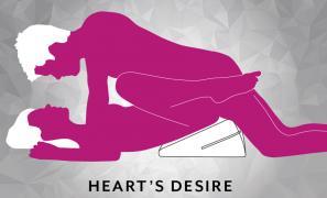 Hearts Desire Sex Position using Liberator Wedge