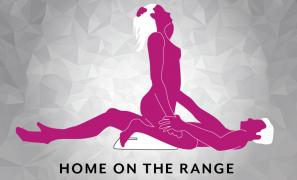 Home on the Range Sex Position using Liberator Wedge