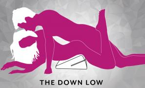 The Down Low Sex Position using Liberator Wedge