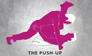 The Push Up Sex Position using Liberator Wedge