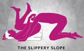 The Slippery Slope Sex Position using Liberator Wedge