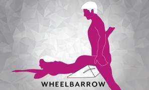 Wheelbarrow Sex Position using Liberator Wedge