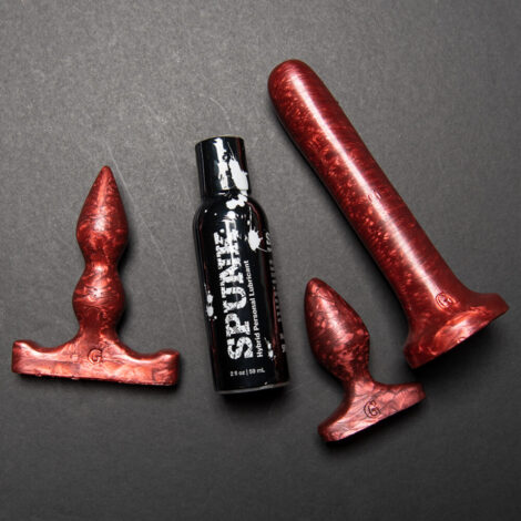 3 Toy Anal Set Plug B Apex Apprentice Butt PLug and Anal Dildo set in Copper Pearlescent 1000x1000 Product Images