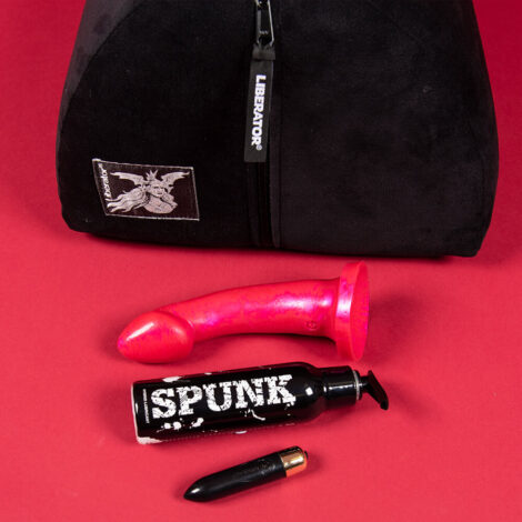 Threesome Fantasy Set Liberator Bonbon Godemiche Ambit Scarlet Spunk Lube Rocks Off RO80 Flat Lay 1000x1000 Product Image