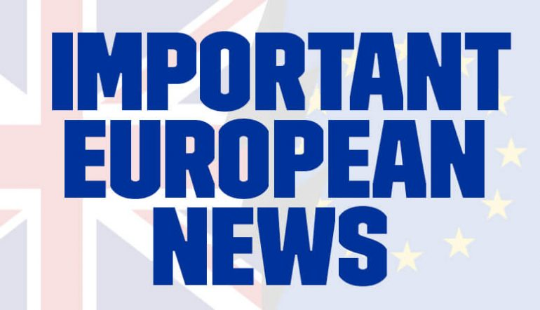 Important european news charges to come january 2021