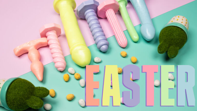 Easter Pastel Pearl Collection with bushess and eggs Blog Post banner