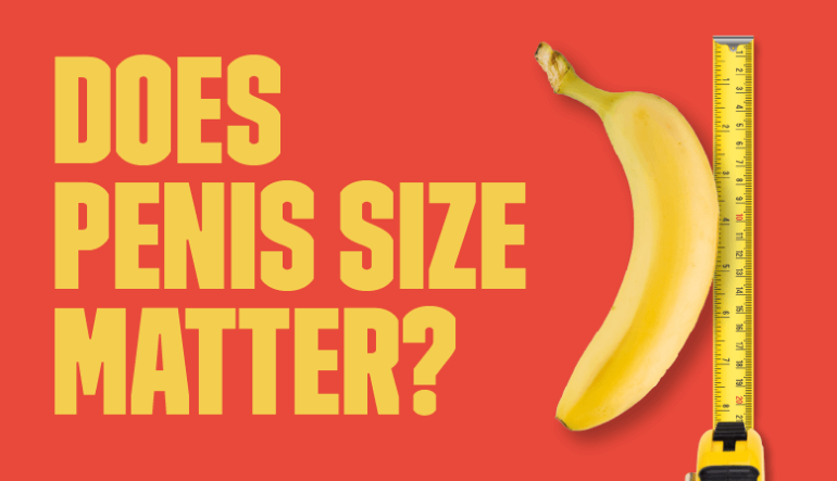 Picture of banana with measuring tape for post about penis size