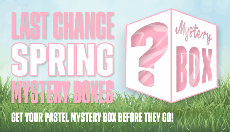 Godemiche spring mystery box last chance blog banner