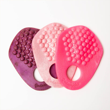 Grind Ring Bubbles Winter Berry, Boy Bye, Pastel Pearlescent Pink Texture Top Down Group Picture